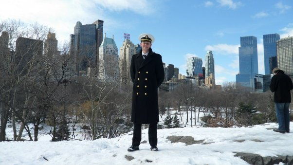 Midshipman Nick Fowler in New York City